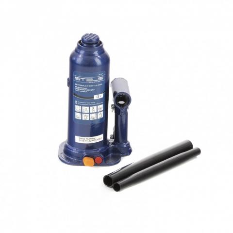 products/Домкрат гидравлический бутылочный, 3 т, h подъема 188-363 мм Stels (51161)