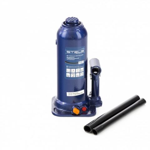products/Домкрат гидравлический бутылочный, 10 т, h подъема 222-447 мм Stels (51166)