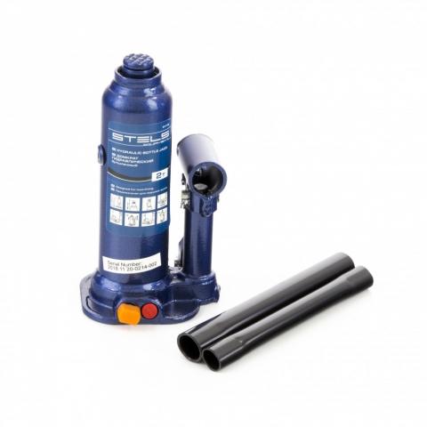products/Домкрат гидравлический бутылочный, 2 т, h подъема 178-338 мм, в пластиковом кейсе Stels (51172)