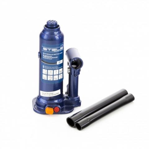 products/Домкрат гидравлический бутылочный, 3 т, h подъема 188-363 мм, в пластиковом кейсе Stels (51173)