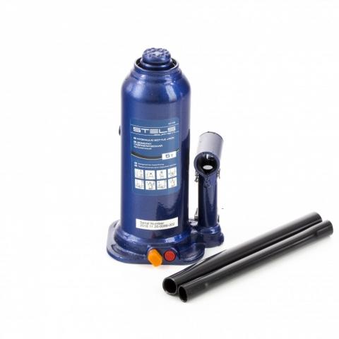 products/Домкрат гидравлический бутылочный, 5 т, h подъема 207-404 мм, в пластиковом кейсе Stels (51175)