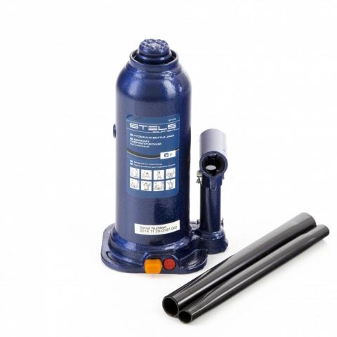 products/Домкрат гидравлический бутылочный, 6 т, h подъема 207-404 мм, в пластиковом кейсе Stels (51176)
