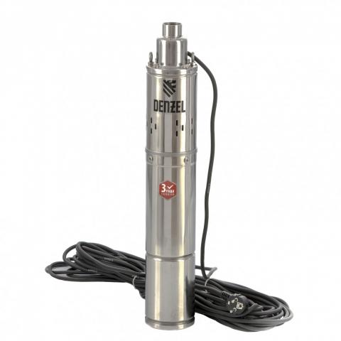 products/Скважинный насос DWS-4-100, винтовой, диаметр 4, 800 Вт, 1700 л/ч, напор 100 м Denzel (97252)