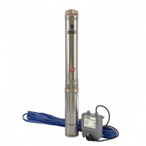 products/Скважинный насос DWC-4-80, центробежный, диаметр 4, 1500 Вт, 5700 л/ч, напор 80 м Denzel (97256)