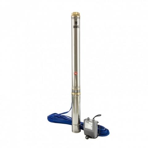 products/Скважинный насос DWC-4-140, центробежный, диаметр 4, 2000 Вт, 6000 л/ч, напор 140 м Denzel (97258)