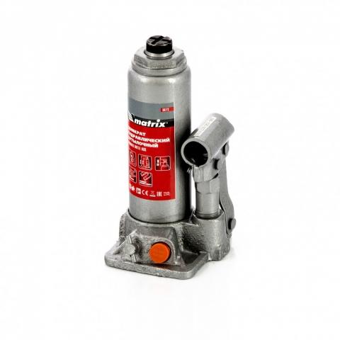 products/Домкрат гидравлический бутылочный, 2 т, h подъема 181-345 мм, в пластиковом кейсе Matrix (50773)