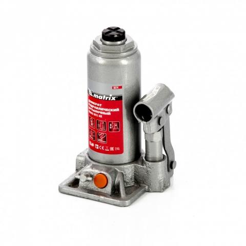 products/Домкрат гидравлический бутылочный, 3 т, h подъема 178-343 мм, в пластиковом кейсе Matrix (50774)