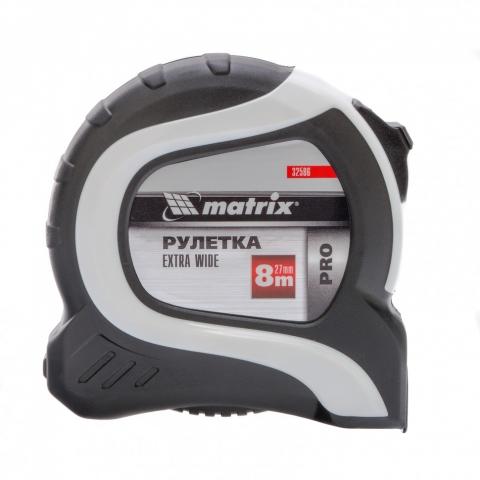 products/Рулетка Extra Wide, 8 м x 27 мм, двухкомпонентный корпус, Pro Matrix, 32586