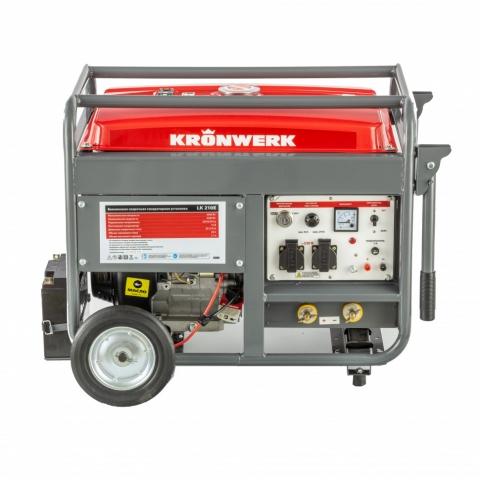 products/Бензиновая сварочная генераторная установка LK 210Е, 5.0 кВт, 220 В, бак 25 л, электростартер Kronwerk