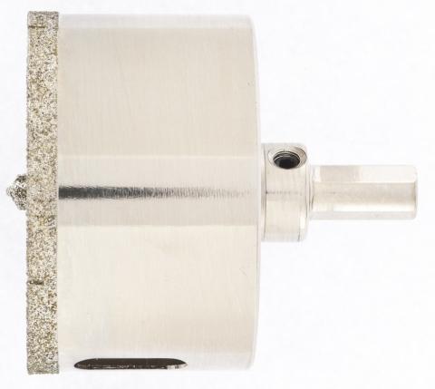 products/Сверло алмазное по керамограниту, 65 х 67 мм, трехгранный хвостовик Matrix, 726653