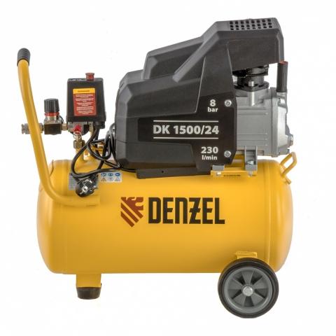 products/Компрессор воздушный DK1500/24, Х-PRO 1,5 кВт, 230 л/мин, 24 л Denzel (58063)