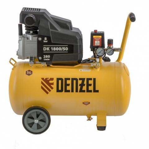 products/Компрессор воздушный DK1800/50, Х-PRO 1,8 кВт, 280л/мин, 50л Denzel (58068)