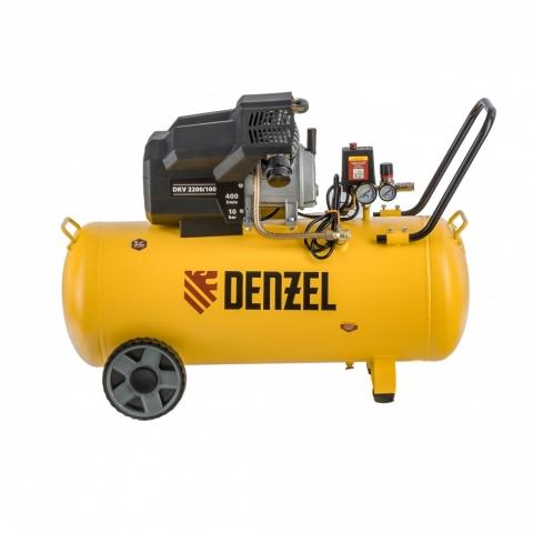 products/Компрессор воздушный DKV2200/100, Х-PRO 2.2 кВт, 400 л/мин, 100л Denzel (58079)