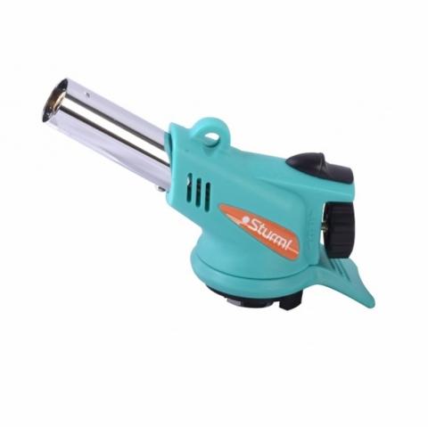 products/5015-KL-05 Горелка газовая, пьезоподжиг(кнопка),РЕАЛЬНО 360 ГРАДУСОВ свободного вращения, Sturm