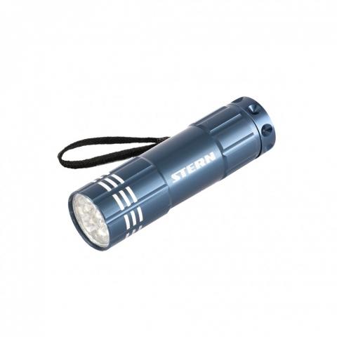 products/Фонарь бытовой алюминиевый, синий корпус, 9 LED, 3хААА// Stern, 90505