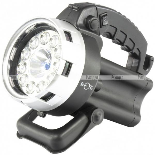 Фонарь поисковый, аккумуляторный, галоген 25 Вт, 11 LED// Stern, 90532
