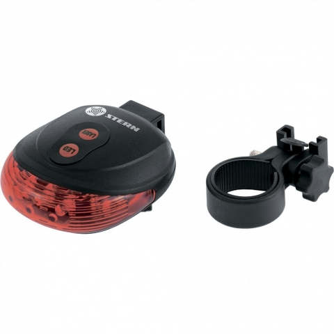 products/Фонарь велосипедный с лазерным обозначением габаритов, 5 LED, 2 лазера, 2хААА// Stern, 90559