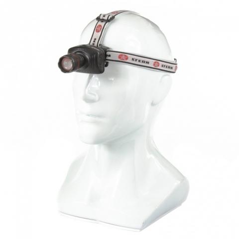products/Фонарь налобный с возможностью зумирования луча, светодиодный, 1 super LED, 3хААА// Stern, 90565