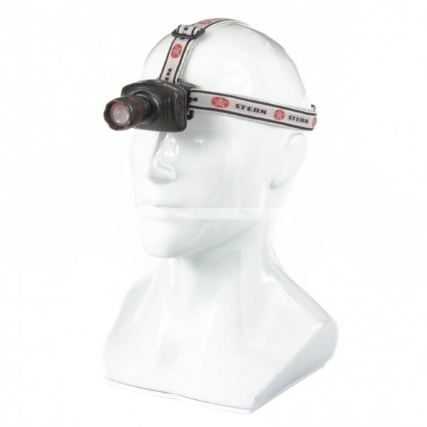 Фонарь налобный с возможностью зумирования луча, светодиодный, 1 super LED, 3хААА// Stern, 90565