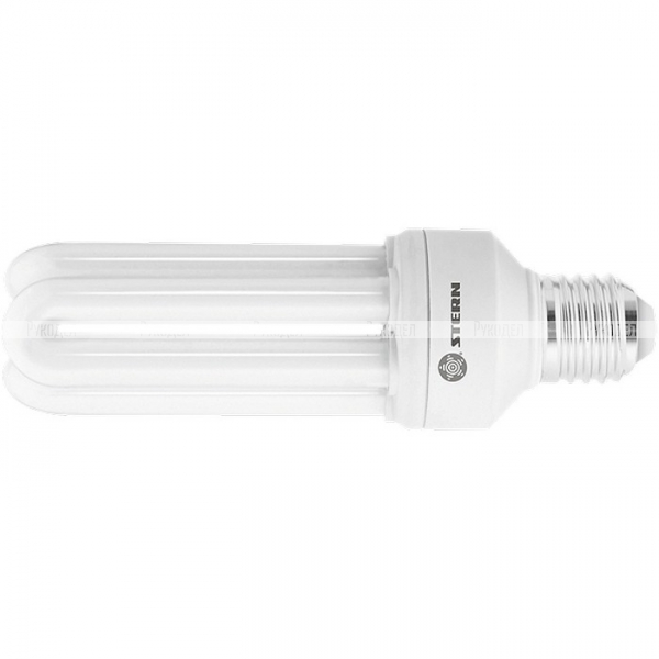 Лампа компактная люминесцентная, U-образная, 26W, 2700K, E27, 8000ч.// Stern, 90943