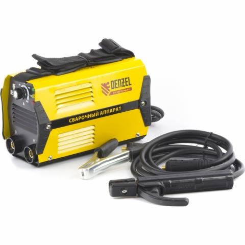 products/Аппарат инверторный дуговой сварки Denzel DS-200 Compact, 200 А, ПВ 70%, диам. эл. 1,6-5 мм (арт. 94373)