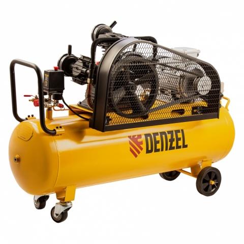 products/Компрессор воздушный BCW3000-T/100, ременный привод, 3.0 кВт, 100 литров, 520 л/мин Denzel, арт. 58118