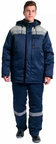 products/Куртка зимняя Эксперт-Люкс NEW (тк.Смесовая,210), т.синий/серый