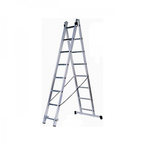 """products/Лестница универсальная 2х11 ступеней, алюминевая двухсекционная ЗУБР """"Эксперт"""" 38821-11"""