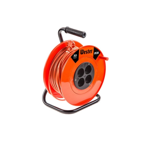 products/Удлинитель силовой WESTER K10/30 на катушке