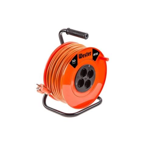products/Удлинитель силовой WESTER K16/50 на катушке
