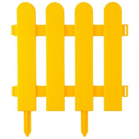 "products/Забор декоративный, желтый GRINDA ""Штакетник"" (арт. 422209-Y)"