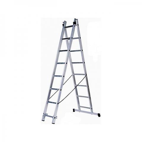 """products/Лестница универсальная 2х7 ступеней, алюминевая двухсекционная ЗУБР """"Эксперт"""" 38821-07"""