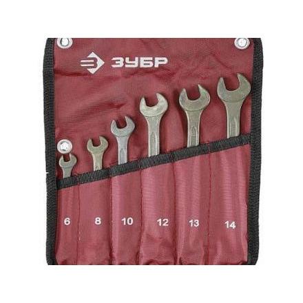 products/Набор ключей комбинированных Т-80(6 шт.), покрытие зеленый цинк, ЗУБР 29025-H6