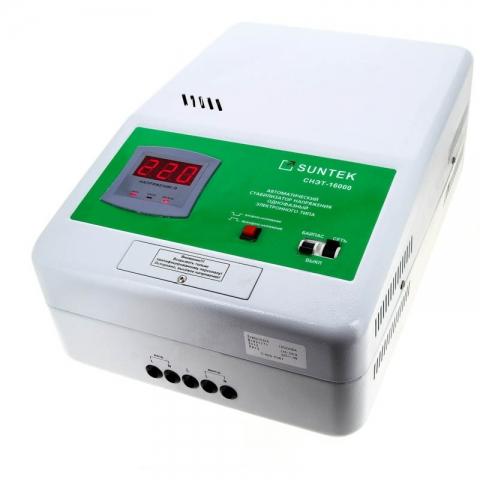 products/Релейный стабилизатор напряжения SUNTEK 16000 ВА, 120-285В, 3 года гарантии