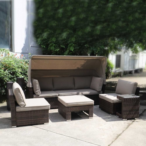 products/Комплект мебели из искуственного ротанга AFM-320B Brown Afina