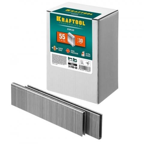 products/Закаленные скобы для степлера узкие Kraftool тип 55 30 мм 5000 шт. 31789-30