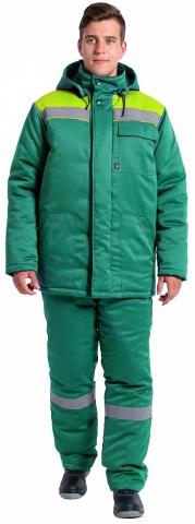 products/Куртка зимняя Эксперт-Люкс NEW (тк.Смесовая,210), зеленый/лимонный