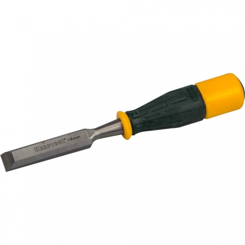 """products/Стамеска KRAFTOOL 1815-18_z01 """"EXPERT"""" упрочненное полотно, ударочпрочная двухкомп ручка, стальной затыльник для ударных работ,18 мм"""