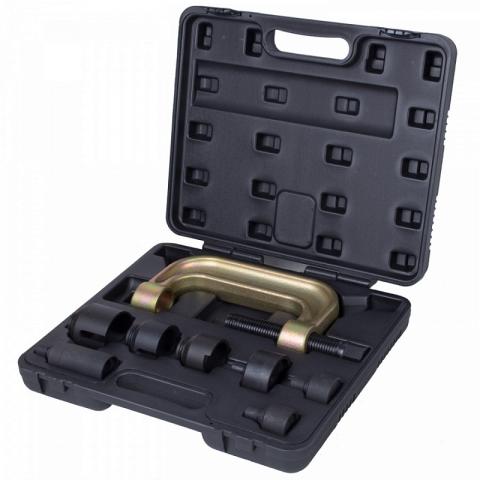 products/110-20008C, МАСТАК Набор оправок для монтажа и демонтажа сайлентблоков MB, кейс, 8 предметов