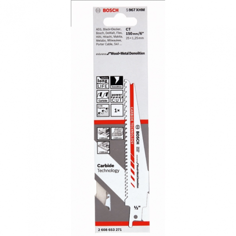 products/Сабельная пилка Bosch S967XHM Endurance for Wood+Metal Demolition (арт. 2608653271)