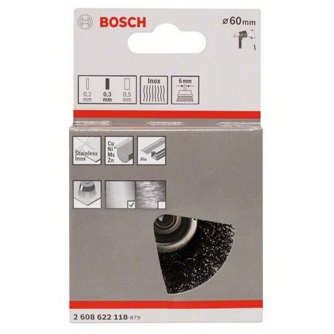 products/Чашечная щетка Bosch 6мм 0.3 х 60мм витая inox (арт. 2608622118)