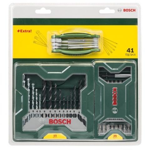 products/Смешанный набор из 15 сверл, 25 насадок-бит и формовочный инструмент с шестигранником (арт. 2607017333)