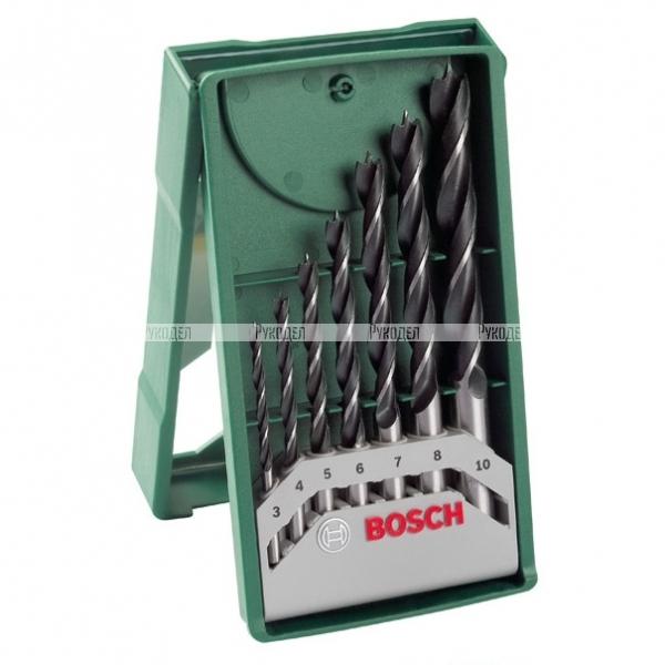 Набор сверл по дереву 3-10 мм Bosch (арт. 2607019580)