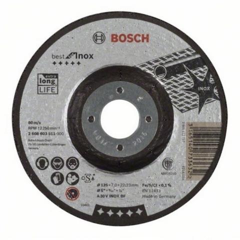 products/Обдирочный круг Best for Inox 125х7.0 мм по нержавейке вогнутый (арт. 2608603511)