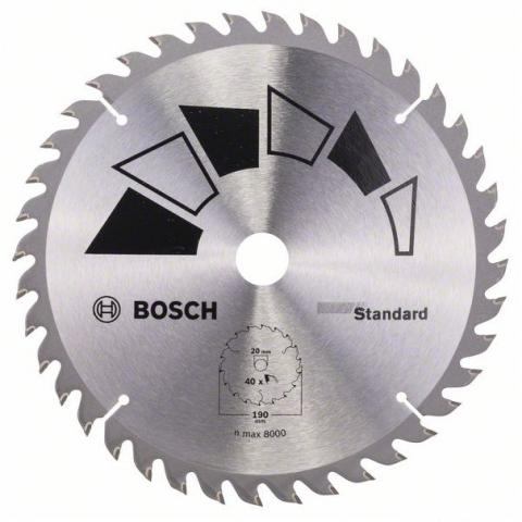 products/Пильный диск STANDARD 190x20/16 мм 40 DIY (арт. 2609256819)