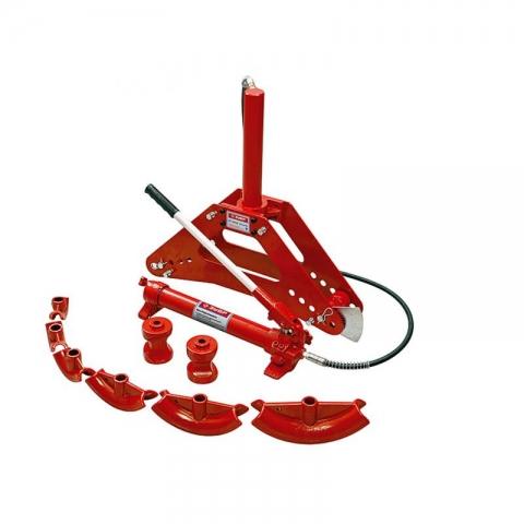 products/Трубогиб гидравлический, 10т, ход штока 315мм, 8 насадок, 2 ролика Зубр (арт. 43077-10)
