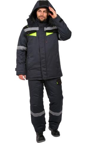 products/Костюм зимний Ховард (тк.Балтекс,210) брюки, т.серый/лимон