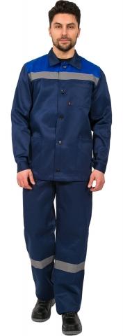 products/Костюм Труженик СОП (тк.Смесовая,210) брюки, т.синий/васильковый
