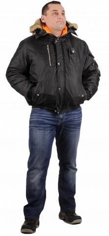 products/Куртка зимняя Аляска укороченная (тк.Оксфорд) ЭТАЛОН, черный