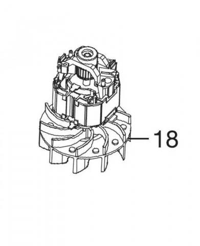 products/Электродвигатель для пылесоса/воздуходувки Gardena ErgoJet 2500, 3000 производства до 2016 года, 09332-00.900.05